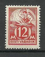 Estonia 1925 Michel 57 IV (thick  Paper Type) * - Estonia