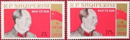 Albania  1968  Mao Tse - Tung   2 V   MNH - Albanie