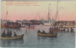 """GRECE SALONIQUE CEREMONIE """"BENEDICTION DES EAUX"""" 1917 TBE - Greece"""