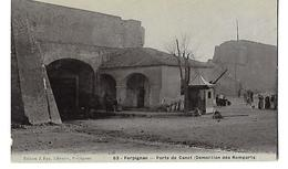 66 PERPIGNAN PORTE DE CANET (DEMOLITION DES REMPARTS) CPA 2 SCANS - Perpignan