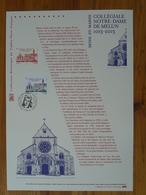 Document Officiel FDC 13-517 Millénaire Collégiale Notre Dame De Melun Medieval Architecture 77 Seine Et Marne 2013 - Kirchen U. Kathedralen
