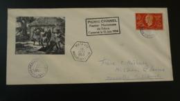 Lettre Cover Missionnaire Pierre Chanel Missionary Wallis Et Futuna 1955 - Wallis And Futuna