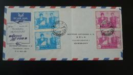 Lettre Premier Vol First Flight Cover Teheran Iran ---> Frankfurt Lufthansa 1961 - Iran