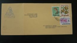 Lettre Premier Vol First Flight Cover Singapore ---> New Delhi India Lufthansa 1966 (ex 1) - Singapour (1959-...)