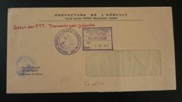 Lettre Grève Postale PTT Pli De Service Préfecture De L'Hérault 34 Montpellier 1974 (ex 2) - Poststempel (Briefe)