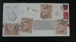 Lettre Recommandée Registered Cover Ramses Egyptologie Pont Eveque 38 Isère 1977 - Egyptologie