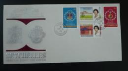 FDC Queen Elizabeth II Silver Jubilee Seychelles 1977 - Seychelles (1976-...)