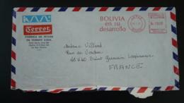 Lettre Cover EMA Slogan Meter Bolivia 1978 - Bolivie