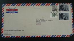 Lettre Par Avion Air Mail Cover Einstein Inde India 1979 - Albert Einstein