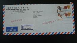 Lettre Recommandée Registered Cover Bernard-l'hermite Coquillage Shell Singapour Singapore 1979 - Singapour (1959-...)