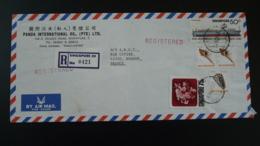 Lettre Recommandée Registered Cover Bateau Ship Coquillage Shell Orchidée Orchid Singapour Singapore 1979 - Singapour (1959-...)