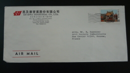 Lettre Par Avion Air Mail Cover Temple Bouddhiste Buddhism Taiwan 1979 - Buddhism