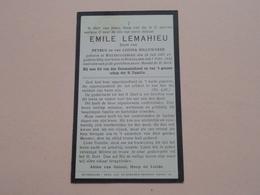 DP Emile LEMAHIEU ( Zoon > HILLEWAERE ) Westroozebeke 28 Juli 1867 - Roeselare 7 Feb 1933 ! - Todesanzeige