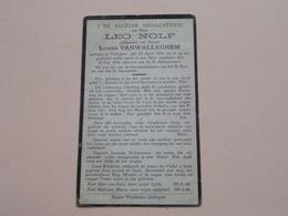 DP Leo NOLF ( Louisa Vanwalleghem ) Gullegem 20 April 1865 - 24 Juni 1933 ! - Todesanzeige