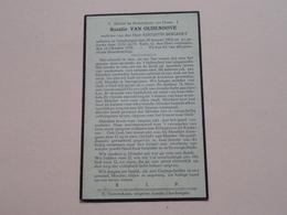 DP Rosalie VAN OUDENHOVE ( Augustin Bogaert ) Oombergen 28 Jan 1863 - 18 Okt 1932 ! - Todesanzeige