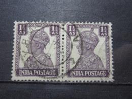 "VEND BEAUX TIMBRES D ' INDE N° 166 EN PAIRE , OBLITERATION "" BOMBAY "" !!! - 1936-47 King George VI"