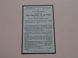 DP Karel-Alfons-Marie VAN DE VYVER ( Charlotte Vercauteren ) Gent 24 Aug 1852 - 26 Maart 1932 ! - Todesanzeige