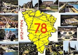 78 - Yvelines - Carte Géographique - Multivues - France
