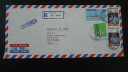 Lettre Recommandée Registered Cover Année Internationale Handicapés International Year Of Disabled Singapore 1981 - Singapour (1959-...)