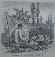 Man At Forced Works As Stone Breaker Baden-Württemberg-gravure, Engraving 1861 TDM1862.1.197 - Estampes & Gravures