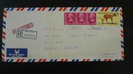Lettre Recommandé Registered Cover Barking Deer Hong Kong 1982 - Hong Kong (...-1997)