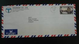 Lettre Par Avion Air Mail Cover Jonque Junk Ship Port Of Hong Kong 1982 - Hong Kong (...-1997)