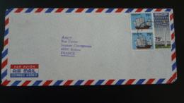 Lettre Par Avion Air Mail Cover Jonque Junk Ship Changi Airport Singapore 1982 (ex 1) - Singapour (1959-...)
