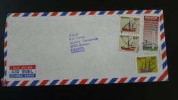 Lettre Par Avion Air Mail Cover Jonque Junk Ship Changi Airport Singapore 1982 (ex 2) - Singapour (1959-...)