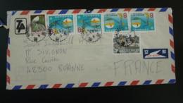 Lettre Par Avion Air Mail Cover Taoyuan Taiwan 1982 - 1945-... République De Chine