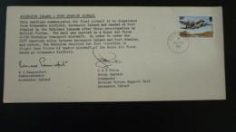 Lettre Cover Commemoration Vol Flight Ascension Island Port Stanley RAF 1982 - Ascension (Ile De L')