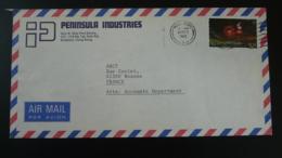 Lettre Par Avion Air Mail Cover Feu D'artifice Firework Hong Kong 1983 - Hong Kong (...-1997)