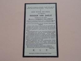 DP Isidoor Van DAELE ( Romanie Callebaut ) Godveerdegem 4 Feb 1868 - 30 April 1930 ( Zie Foto's ) ! - Todesanzeige
