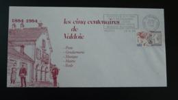 Lettre Cover Flamme Centenaire Gendarmerie Valdoie 90 Terr. Belfort 1984 - Police - Gendarmerie
