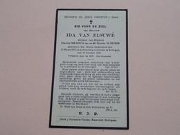 DP Ida Van Elsuwé ( Van Huffel & De Decker ) Ste.-Maria-Audenhove 16 Maart 1870 - Sottegem 16 Oct 1930 ( Zie Foto's ) ! - Todesanzeige