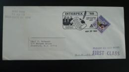 Declaration Independance Obliteration Sur Lettre Postmark On Cover Interpex USA 1988 - Us Independence