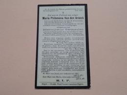 DP Maria Philomena Van Den Broeck ( Vermeulen ) Heyst-op-den-Berg 25 Oct 1861 - 4 Jan 1930 ( Zie Foto's ) ! - Todesanzeige