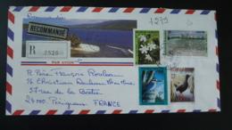 Lettre Recommandée Registered Cover Pirae Tahiti Polynésie 1991 - Storia Postale