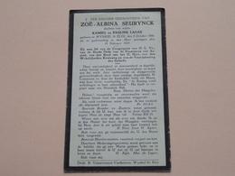 DP Zoë-Albina SEURYNCK ( Dochter > LAGAE ) WYNKEL St ELOI 5 Oct 1896 - 18 Feb 1929 ( Zie Foto's ) ! - Todesanzeige