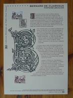 Document Officiel FDC 13-540 Bernard De Clairvaux Moyen Age Medieval Fontaine Les Dijon 21 Cote D'Or 2013 - Christentum