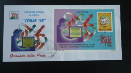 Lettre FDC Bloc Exposition Mondiale De Philatélie Milano Italia 1998 - 6. 1946-.. Repubblica