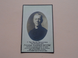 DP Eerweerde Heer Polydor VANDER HEYDE ( Pastor Woumen ) Alveringhem 28 Nov 1846 - Woumen 23 Feb 1928 ( Zie Foto's ) ! - Todesanzeige