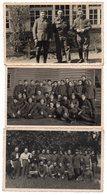 KREFELD  Stalag VI J - 3 Cartes Photo + 10 Mini Photos - Weltkrieg 1939-45