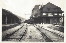 RPCP : Vallorbe, Stoomtrein, Train à Vapeur, Photo Of Old Postcard, 2 Scans - Trains