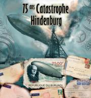 BURUNDI 2012 - Hindenburg Disaster & Zeppelins S/S. Official Issues. - Burundi