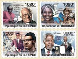 BURUNDI 2011 - African Personalities M/S. Official Issues. - Burundi