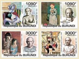BURUNDI 2011 - 130th Anniversary Of Birth Of Picasso M/S. Official Issues. - 2010-..: Ungebraucht