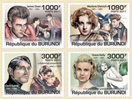BURUNDI 2011 - Actors Of Cinema M/S. Official Issues. - 2010-..: Ungebraucht