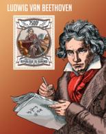 BURUNDI 2013 - Ludwig Van Beethoven S/S. Official Issues. - Burundi
