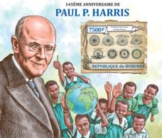 BURUNDI 2013 - Paul P. Harris S/S. Official Issues. - Burundi