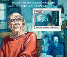 BURUNDI 2013 - Pablo Picasso S/S. Official Issues. - 2010-..: Mint/hinged